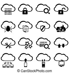 cielna, dane, chmura, obliczanie