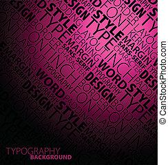 ciemny, abstrakcyjny, typografia, tło