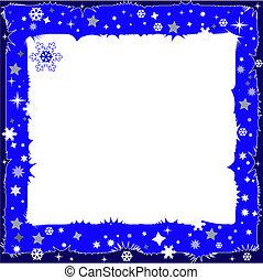 ciemny, dekoracyjny, błękitny, zrąb