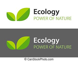 ciemny, -, tło., logo, liście, odizolowany, ikona, kasownik, biały, organiczny, product., ilustracja, ekologia, zielony