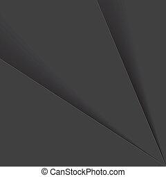cienie, graficzny, listki, &, to, graphic., albo, -, wektor, plastyk, szary, papier, czarnoskóry, tony, tło, między, składa, biały, abstrakcyjny, zasłona