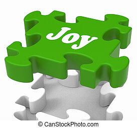 cieszyć się, radość, zagadka, radosny, radosny, widać