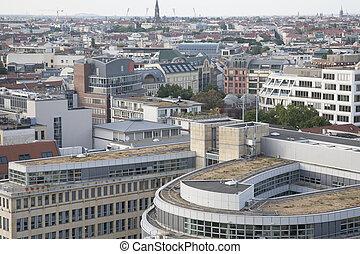 cityscape, katedra, berlin, wieża