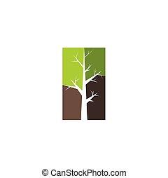 clipart, symbol, drzewo, znak, wektor, logo