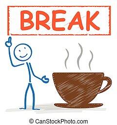 coffeecup, stickman, złamanie