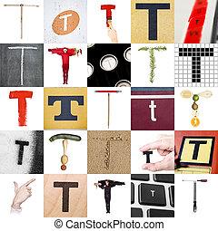 collage, t, litera