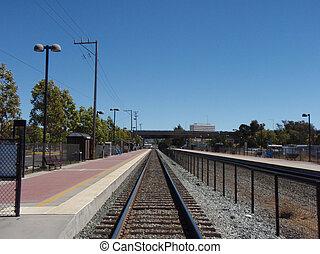 commuter, ślady, pociąg