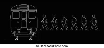 commuters, abordaż pociąg