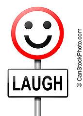 concept., śmiech