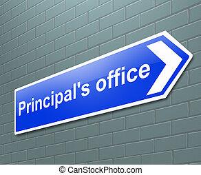 concept., biuro, principal's