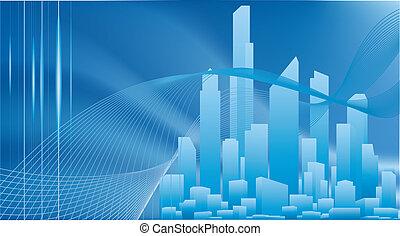conceptual tło, miasto handlowe