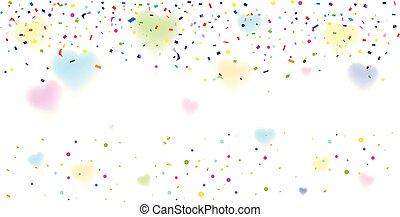 confetti, ozdoba