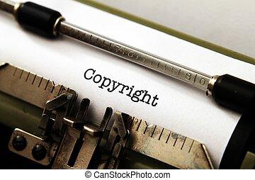 copyright, maszyna do pisania