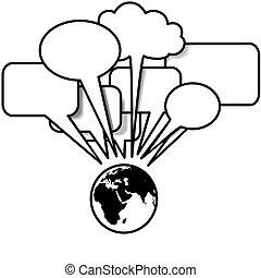 copyspace, blogs, rozmowy, mowa, tweets, ziemia, wschód, bańka