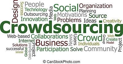crowdsourcing, słowo, chmura
