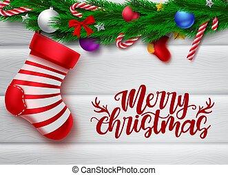 cukierek, struktura, biały, chorągiew, kapelusz, sosna, święty, powitanie, tekst, wektor, opróżniać, element, trzcina, dekoracje, boże narodzenie, liście, podobny, drewno, boże narodzenie, wesoły, tło., przestrzeń, wiadomości