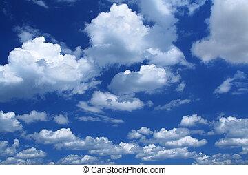 cumulusowe chmury, masywny