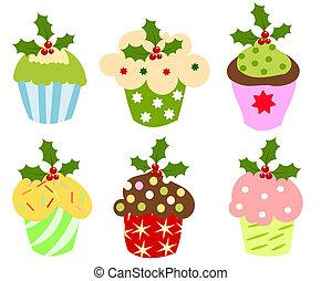 cupcakes, boże narodzenie