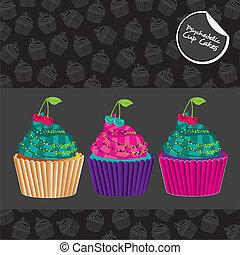 cupcakes, psychodeliczny, komplet