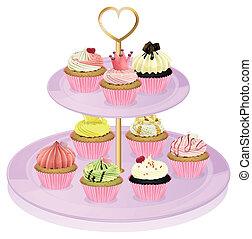 cupcakes, stać, cupcake