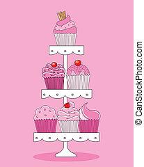 cupcakes, zachwycający, wybór