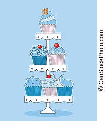 cupcakes., zachwycający, wybór