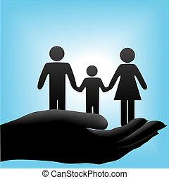 cuppe, dziecko, ojciec, rodzina, macierz