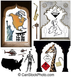 cutout, obiekty, -