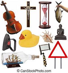 cutout, obiekty, -, odizolowany