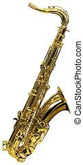 cutout, saksofon