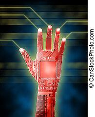 cybernetyczny, ręka