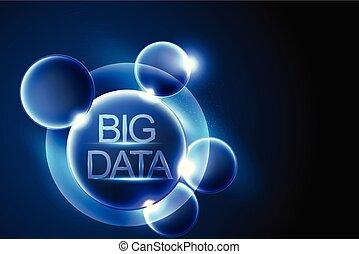 cyfrowy, abstrakcyjny, dane, cielna, komunikacja, wektor, galaktyka, illustration., tło, pojęcie