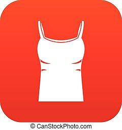 cysternowy szczyt, czysty, cyfrowy, kobiety, czerwony, ikona