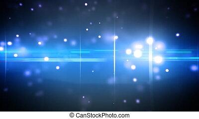 cząstki, błękitny, optyczny, klosze