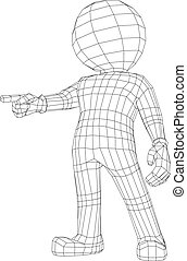 człowiek, aparat fotograficzny, marionetka, spoinowanie, 3d