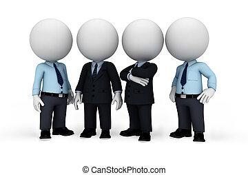 człowiek, biały, 3d, handlowy zaludniają