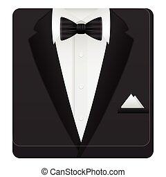 człowiek, garnitur, ikona