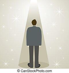 człowiek, gwiazda, strumienica, handlowy dostosowują