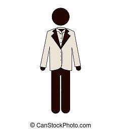 człowiek, ikona, imge, garnitur