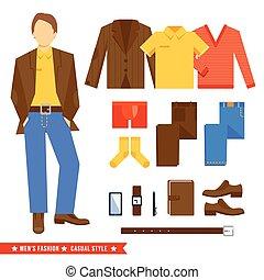 człowiek, odzież, handlowe ikony