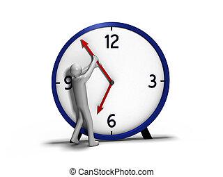 człowiek, przeciw, czas
