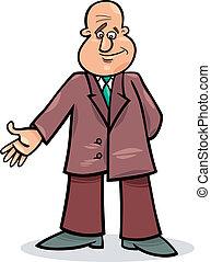 człowiek, rysunek, garnitur