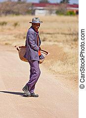 człowiek, starszy, afrykanin