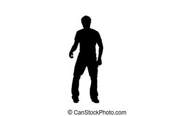 człowiek, taniec, dorywczo, sylwetka