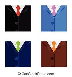 człowiek, wektor, ilustracja, garnitur