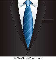 człowiek, wektor, tło, ilustracja, garnitur