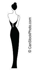 czarna kobieta, przy stroju