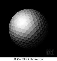 czarna piłka, golf