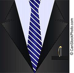 czarne tło, garnitur