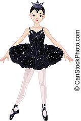 czarnoskóry, balerina